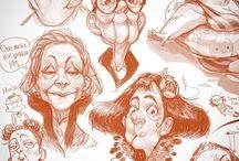 Drawing darling old people