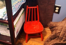 | my son's nursery | / Lots of hand me downs, lots of DIY.  Not much space, and not much money!  / by Sarah H.