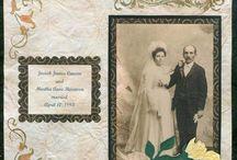 vintage wedding scrapbooking