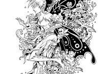 Art Doodle para colorir