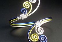 pulseras y pendientes de aluminio