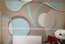 Living Space Wall Designs / Hand-painted feature walls. An alternative to wallpaper!