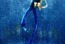 ARTWORK : Rainy Days & Umbrella / I love rain, and walking under the rain. I love sound of the rain, smells of the rain. Rain make me so happy <3