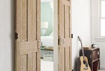 drzwi i podziały / przesuwne, zwykłe, klamki, przeszklenia, wydzielenia itp