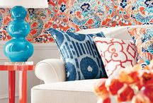 Wallcoverings With WOW / These aren't your grandmother's wallcoverings! We love these patterns and colors.