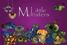 Little monsters / Strange imaginary creatures, big and small monsters, some with scales other with wings, are living in a magic world, much different than ours.