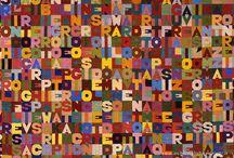 """Alighiero Boetti / Alighiero Boetti, artista """"singolare"""" diventato """"plurale"""". Ogni suo lavoro ha sempre al centro un concetto individuato prima singolarmente dall'artista e poi concretizzato e diffuso attraverso un'elaborazione a più mani. Gli esecutori non sono semplice manovalanza ma artefici. Boetti svolge un concetto di creatività diffusa nel quale dà dignità al momento esecutivo in cui l'opera si materializza. http://www.museomadre.it/mostre_show.cfm?id=8"""