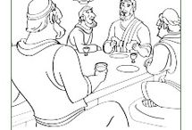 The Last Supper (Lord's Supper) Bible Activities / On the night Jesus was arrested, He shared a special meal with his disciples called the Passover meal. That meal was the last meal Jesus shared with his disciples before the crucifixion and became what we now sometimes call the Lord's Supper. These Bible activities for children will help kids learn about this important event.