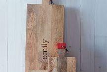 wooden kitchen & dinnerware