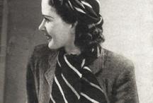 Vintage - Knitting Scarfs/ Neckscarfs