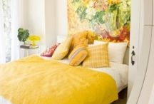Different yellow colour bedrooms