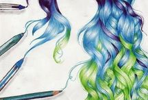 Beautiful Hair Drawings
