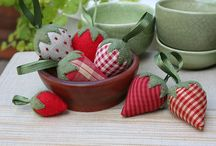 Flores e frutas de pano net