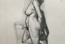 Life Drawing by Monica Batiste