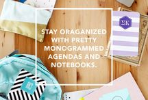 Back to School / Stay organized this year with notebooks and agendas from May Designs!
