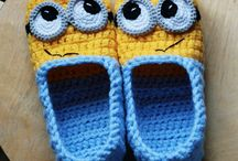Crochet socks and slippers