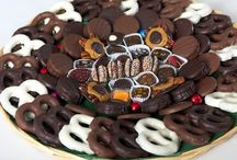 """B: Trays of Treats / Select a Tray and """"Visit"""" our website to purchase."""