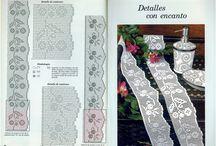 Филейное вязание ❁ Filet crocheting / Филейное вязание, филейка, сетка: дорожки, салфетки, подушки, кружево