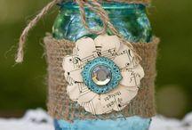 Marturii / Borcanase si sticlute umplute cu gem si impodobite pentru cadouri la nunti si botezuri