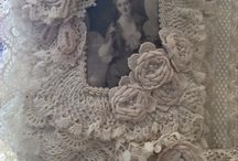 Fabric, Lace & Doily Journals