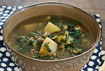 Vegetarian Soups / Soups are a great starter or even for making a batch and taking to work for lunch.  See these vegetarian soup recipes for inspiration.