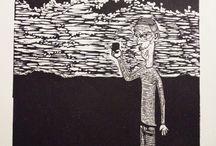 printmaking / linocut by Karl-Emil Heiberg