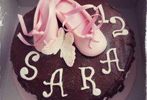 Tarta Zapatillas de Ballet / Tarta de chocolate con zapatillas de Ballet