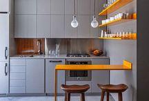 Open living room+ kitchen
