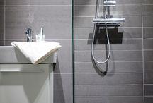 Svart/vitt badrum