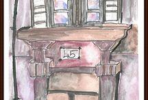 ...és ennyi... / Ezek a saját festményeim. Aktuális kedvencem az akvarell. Előzőekben por pasztell krétával dolgoztam.