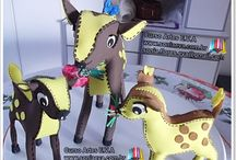 cRAFTS ANIMAL BAMBI 3D em EVA / Diy ANIMAL BAMBI 3D em EVA http://www.soniaeva.com.br/