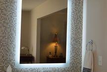 "LED Integrated Backlit Bathroom Mirrors / LED Integrated Backlit Bathroom Mirrors 20"" x 28"", 24"" x 32"", 28"" x 36"", 30"" Round"