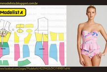 Patterns swimsuits