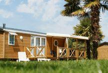 Mobile-homes / Les mobiles-homes fleurissent au Domaine des Ormes. Du 2 au 3 chambres, 4 saisons, bardés de bois...