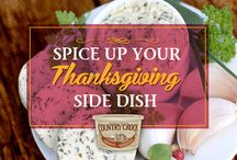 """Spice Up Your Thanksgiving Side Dish / Take a tip from Chef Normajean Longfield. """"Simply mix Country Crock spread with your favorite herbs and spices to put a delicious spin on your fave Thanksgiving side dish""""  Some of Normajean's favorites are Buttery Blue Cheese Spread, Spicy Cilantro Spread and Parmesan Garlic Spread. Give them a try atop mashed potatoes!"""