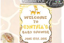 Baby Shower Giraffe Games In Brown Yellow theme, Invitations, Decorations and more... / Hi, thank you for visiting this beautiful baby shower board with giraffe theme. Here you can find a lot of baby shower decorations and activities with over 40 listings in this theme.