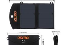 (Light Weight) CHOETECH 12W Portable Solar Charger for Cell Phone (Mini)