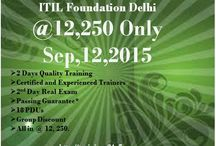 ITIL Foundation Workshop / Trainings24x7 is conductng 2-day ITIL foundation classroom training + exam workshop in Delhi NCR Training Workshop Overview: 2-Day Workshop Handbook EXIN Approved Exam Fee Included Chapters' and Mock tests that close to real exams Quality training http://trainings24x7.com/itil-foundation-training-in-delhi-ncr/