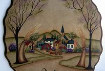 PAINTED FOLK ART IDEAS / by Kathy Lunghi