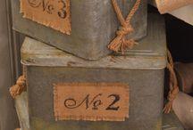 Boxes vintage metal