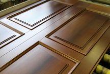 Pannelli in legno artigianali per porte blindate / Pannelli in legno costruiti e verniciati artigianalmente. Riproducono l'effetto di un pannello in legno massiccio.