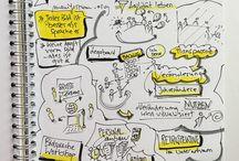 Sketchnotes & Grafikrecording / Tipps, schöne Elemente, Ideensammlung für das sketchnoten und grafikrecording