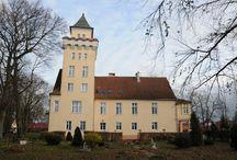 Nowęcin - Pałac / Pałac w Nowęcinie przebudowany w 1909 r. ze średniowiecznego zamku Klausa Wejhera. Inicjatorami przebudowy była rodzina Blankensee. W okresie międzywojennym właścicielami pałacu była rodzina Rompler. Ostatnim właścicielem majątku był Johan Zoch.  Po II wojnie światowej pałac przejął PGR. Od lat 80. Funkcjonował w nim ośrodek wypoczynkowo-szkoleniowy. Obecnie pełni funkcje hotelowo-restauracyjną ze stadniną koni.