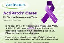 Fibromyalgia Awareness / Fewer drugs, less pain and more living with ActiPatch® Pain Relief  ActiPatch® is a new, safe and clinically proven drug-free medical device technology in the fight against chronic pain.  A consumer survey indicated that Fibromyalgia sufferers achieved significant pain relief with ActiPatch®.  This device can be used safely 24 hours per day with no adverse effects.