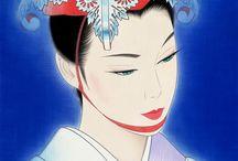 美人画 & イラスト / Bijinga, portraits of beautiful women.