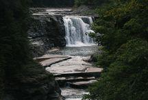 Water, Water Everywhere / Lakes, rivers, waterfalls, rain, thunderstorms.