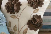 подушки украшенные фетром
