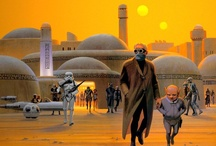 Ralph McQuarrie's Tatooine / Star Wars pre-production paintings by Ralph McQuarrie. All set on Tatooine, my fave Star Wars planet!