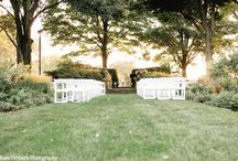 Charleston Wedding Ceremony Decor Inspiration - Kate Timbers Photography / Gold chiavari chairs. A flower covered altar. Lavender for throwing. So many pinnable decorations for a wedding ceremony in Charleston, SC.