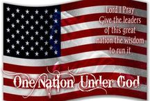Patriotic Board/Conservative Values / We worry about our country where God has been taken out and religious freedoms are diminishing. / by Col. 2:2 Apparel